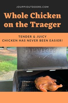 Whole chicken is quite possibly the easiest meal you can cook on the Traeger. Check out these tips for a juicy and delicious whole chicken! Bbq Ideas, Stuffed Whole Chicken, Yum Yum Chicken, Outdoor Cooking, Grilling, Easy Meals, Check, Tips, Advice
