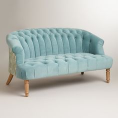Cloud Blue Abigail Love Seat contemporary love seats