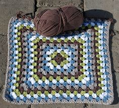 I am making this granny square blanket for the next baby boby blanket