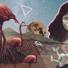 . ... abrazados sueño y tiempo, cruza el gemido del niño, la lengua rota del viejo. . #lorca . . . . . #collage #flamingo #fullmoon #nitdebruixes #nochedemuertos #todoslossantos #skull #triangle #neon #brujeria #witchcraft #halloween #desert #volcano #sky #crystal #magic #neverending #seahorse #skeleton #ps_fantasy #creativecloud_lookup