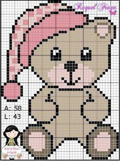 This Pin was discovered by ΕΛΕ Cross Stitch Baby, Cross Stitch Animals, Cross Stitch Charts, Cross Stitch Designs, Cross Stitch Patterns, Pixel Crochet Blanket, C2c Crochet, Tapestry Crochet, Crochet Chart
