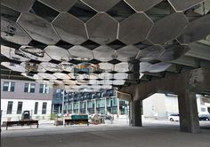mirage underpass park - beneath the Eastern Avenue ramps is a newish piece by Toronto-based architecture/design firm Paul Raff Studio.