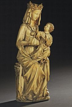 Madonna and child - Ivory. 13th century.