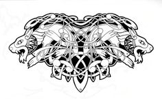 Awesome Celtic Animals Tattoo Design