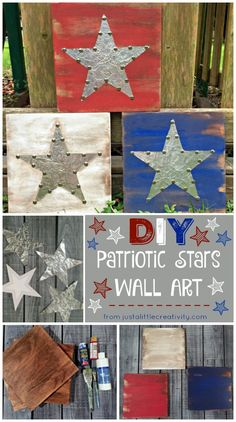 A Glimpse Inside: DIY Metal and Wood Patriotic Stars {4th of July Wall Art}
