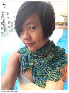 Summer shawls - Pincha Shawl by Pinpilan Wangsai