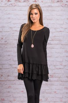 Miles From Home Tunic, Black