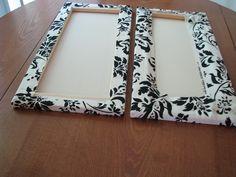 DIY wall art- Fabric, staple gun and canvas or cork board.