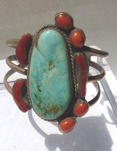 Large Navajo Silver Bracelet