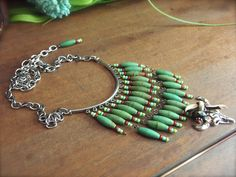 A personal favorite from my Etsy shop https://www.etsy.com/listing/279261458/turquoise-bib-necklace-tribal-necklace