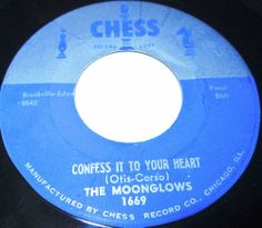 1957 Doo Wop 45 Rpm The Moonglows THE BEATING OF MY HEART  / CONFESS IT TO YOUR HEART On Chess 1669. The Moonglows were among the most important R&B groups of the 1950s, despite the fact that they only had a handful of hits among fewer than 50 recorded songs, in a history that lasted just six years, in sharp contrast to such acts as the Orioles and the Drifters, who were together across decades and recorded huge bodies of work.