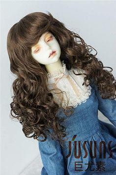 "NEW 1//3 BJD SD Doll Wig 8-9/""inches 21-23cm Doll Caramel Dark Brown Short hair"
