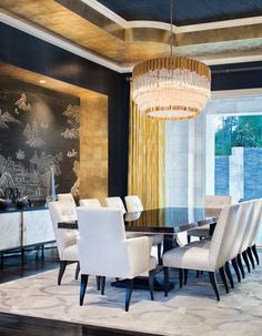 Charisma by Corbett Lighting. Loving this regal look combined with modern…