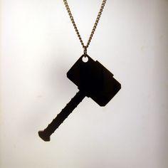 "Thor's Hammer ""Mjolnir"" - Pendant, Zipper Pull, or Key Ring -  Laser Cut Acrylic. $8.50, via Etsy."