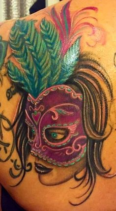 Wonderful colour work on this masquerade mask done in the studio by Greg. He is filling up fast coming up in to summer so call us to make a booking. All our tattoos at Holy Trinity are custom designed. Come and see us at 74 Preston Road Standish Wigan Call 07427627912 to see more of Greg's work visit holytrinitytattoos.co.uk  #gregsleeve #holytrinitytattoos #gregatholytrinity #masqueradetattoo #wigantattoos #chorleytattoos #customtattoo