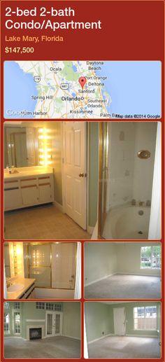 2-bed 2-bath Condo/Apartment in Lake Mary, Florida ►$147,500 #PropertyForSaleFlorida http://florida-magic.com/properties/34779-condo-apartment-for-sale-in-lake-mary-florida-with-2-bedroom-2-bathroom