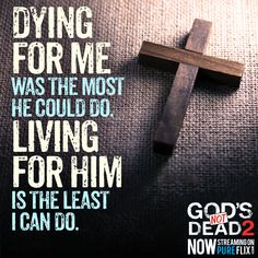 Anything is possible with faith in #JesusChrist! #GodsNotDead2