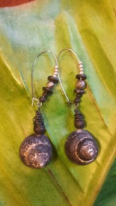 New Collection '16 - Earring Lavastone and Snail 15€                                              Nature Art Jewelery and Dekoration    www.katrinlenz.de