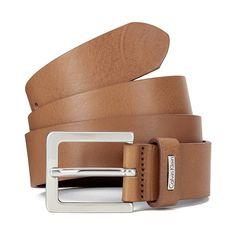 Calvin Klein Men's Mino Leather Belt - Cognac (3900 RSD) ❤ liked on Polyvore featuring men's fashion, men's accessories, men's belts, brown, mens leather accessories, mens brown belt, mens leather belts, mens belts and mens cognac belt