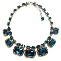 Zara Necklace With Glass Gems ($30) ❤ liked on Polyvore featuring jewelry, necklaces, accessories, schmuck, zara, turquoise, gemstone jewelry, glass jewelry, gemstone jewellery and glass necklace