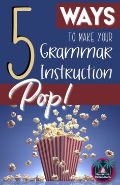 Ways to Spice Up Your Grammar Instruction (For Real) Make teaching and learning grammar more interesting in middle and high school using these five tips.Make teaching and learning grammar more interesting in middle and high school using these five tips. Grammar And Punctuation, Teaching Grammar, Grammar Lessons, Teaching Language Arts, English Language Arts, Teaching Writing, Teaching English, Teaching Resources, Teaching Ideas