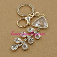 Clear crystal beads pendants decoration key chain