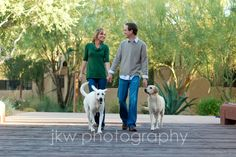 Couples photos with dogs