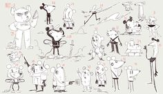 vidio cat_character research on Behance