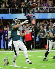 37ec30c5e90 Philadelphia Eagles Super Bowl LII Trey Burton Philly Special Touchdown  Catch NFL Football 8