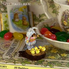 Wee Tweet Trio | Mouse miniature by Wee Forest Folk ®