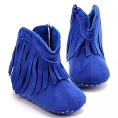 Moccasins Newborn Baby First Walkers Brand Baby Girl Shoes Fringe Baby Girls Boots Soft soles Non-slip Infant Shoes