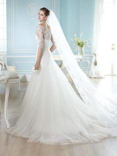 Vestido de novia, modelo Haitzze de St. Patrick 2014  www.sanpatrickgranada.es