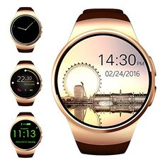 Bluetooth Smart Watch,Evershop 1.3 inches IPS Round Touch Screen Water Resistant Smartwatch Phone with SIM Card Slot,Sleep Monitor,Heart Rate Monitor and Pedometer for IOS and Android Device (Gold)  http://stylexotic.com/bluetooth-smart-watchevershop-1-3-inches-ips-round-touch-screen-water-resistant-smartwatch-phone-with-sim-card-slotsleep-monitorheart-rate-monitor-and-pedometer-for-ios-and-android-device-gold/