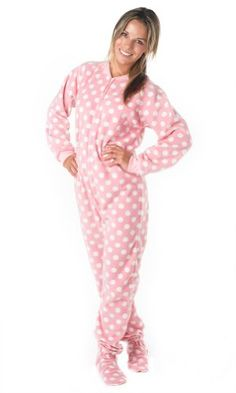 a1a321c157 Take a look at this Pink Pretty in Polka Dots Fleece Footie Pajamas - Adults  by Footed Pajamas on today!