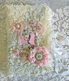 Marie Antoinette fabric pocket book A#
