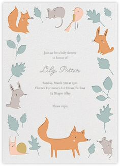 Woodland birthday party invitations - Paperless Post