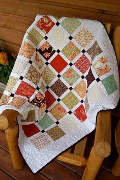 Quilt Early Fall HANDMADE Tapestry Lap Throw. $145.00, via Etsy.