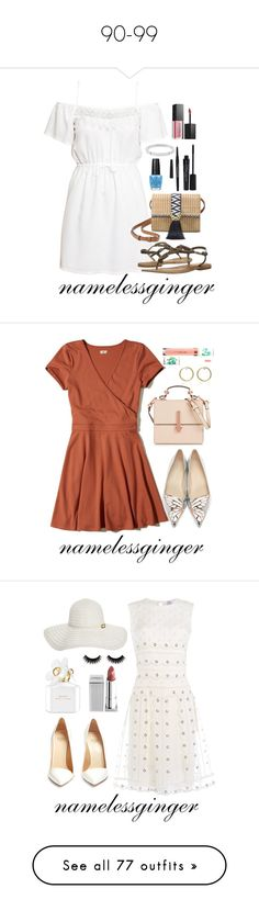 """""""90-99"""" by namelessginger ❤ liked on Polyvore featuring H&M, Naughty Monkey, Stella & Dot, Smashbox, Michael Kors, OPI, Kendall + Kylie, Ila, Sephora Collection and Hollister Co."""