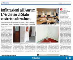 #21gennaio2015 #cultura #aurum #infiltrazioni #archivio #trasloco