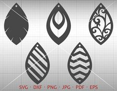Leaf Tear Drop SVG Pendant SVG Vector DXF Leather Earring