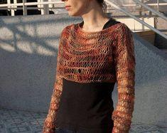 Short pull en tricot, pull en alpaga, pull d'été