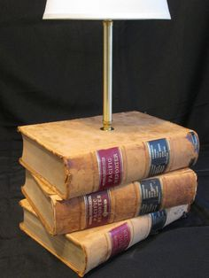 Take The Law Into Your Own Hands With This Unique Handmade Book Lamp By Mybooklandia On
