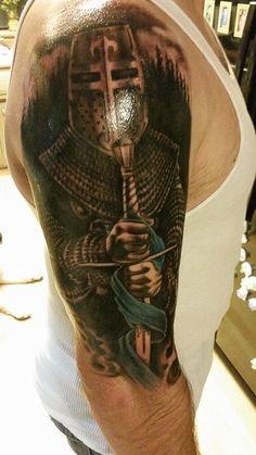 Hottie Hubby\'s new tattoo. St Michael, the Patron Saint of Law Enforcement ❤ LEO TATTOO. COP TATTOO
