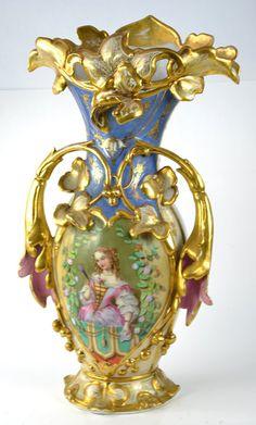 Antique Victorian hand painted vase