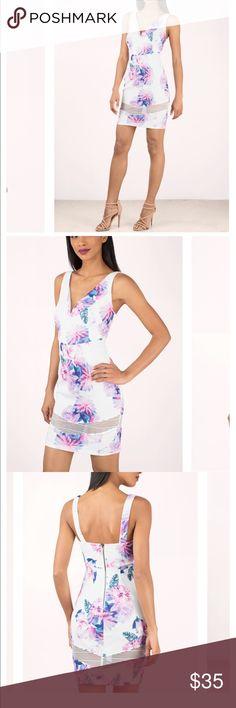 Tobi Floral bodycon dress Never worn Tobi Dresses