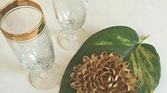 Tischdeko aus Pistazienschalen