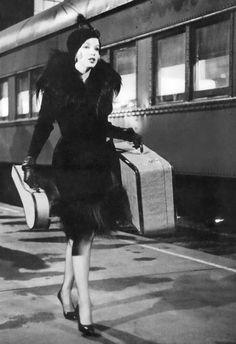 """Marilyn Monroe in """"Some Like it Hot"""" train photo"""