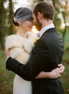 Love the veil and shrug :)