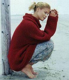 Pullover stricken: Die besten Strickanleitungen Homemade: Knit by yourself: The best sweaters and scarves Crochet Pullover Pattern, Sweater Knitting Patterns, Knitting Designs, Baby Knitting, Knitting Sweaters, Cool Sweaters, Baby Sweaters, Diy 2018, Knit Patterns