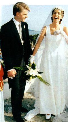 charles louis dorlans le jour de son mariage en 1996 avec lleana manos - Point Mariage Chartres